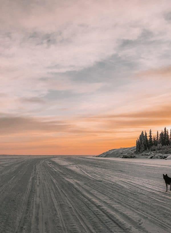 Yellowknife Great Sunset Slave Lake Johnny scaled
