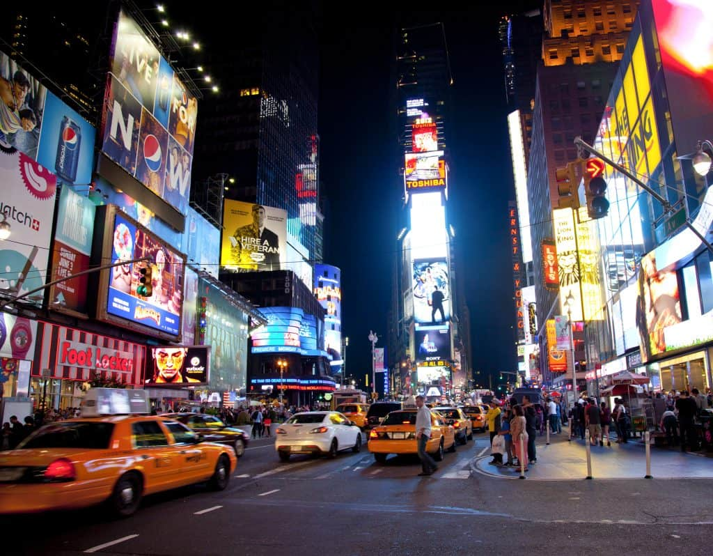 Times Square in Manhattan, New York City.