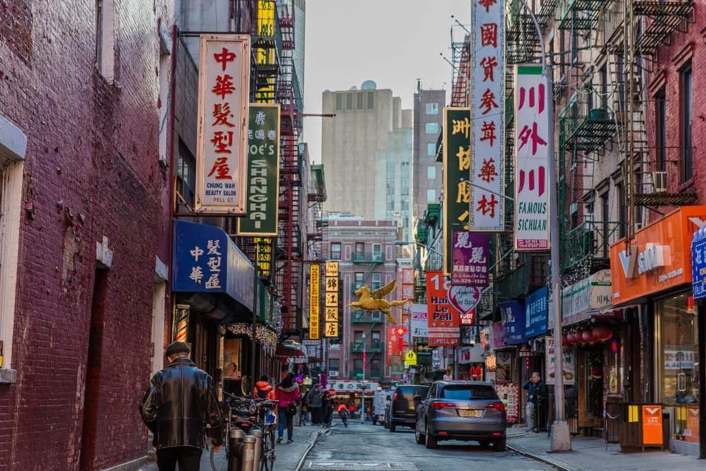 Chinatown streets Manhattan Landmarks New York City USA