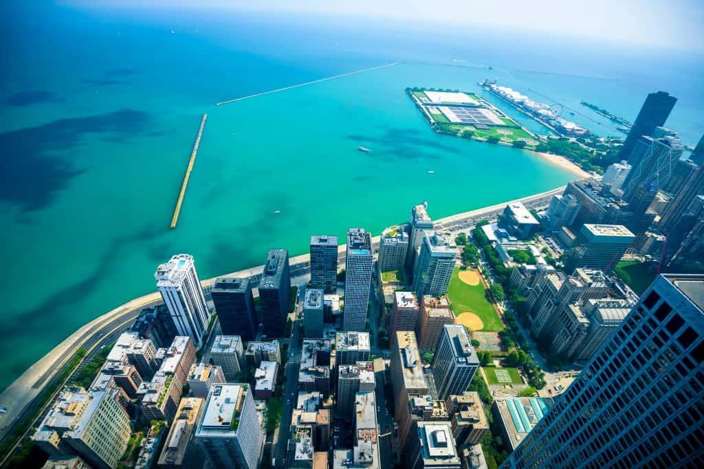 Chicago city skyline, USA