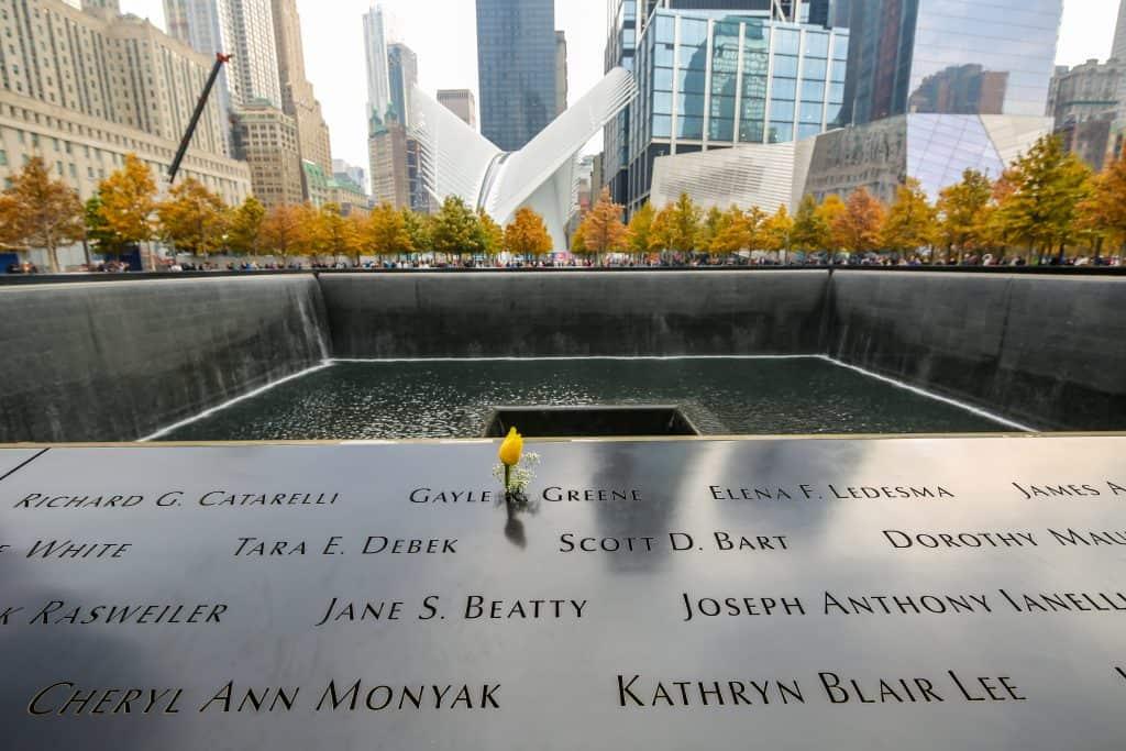 The National September 11 Memorial at Ground Zero in New York