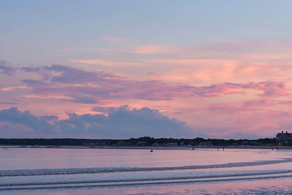 Sunset on Goose Rocks Beach, Kennebunkport