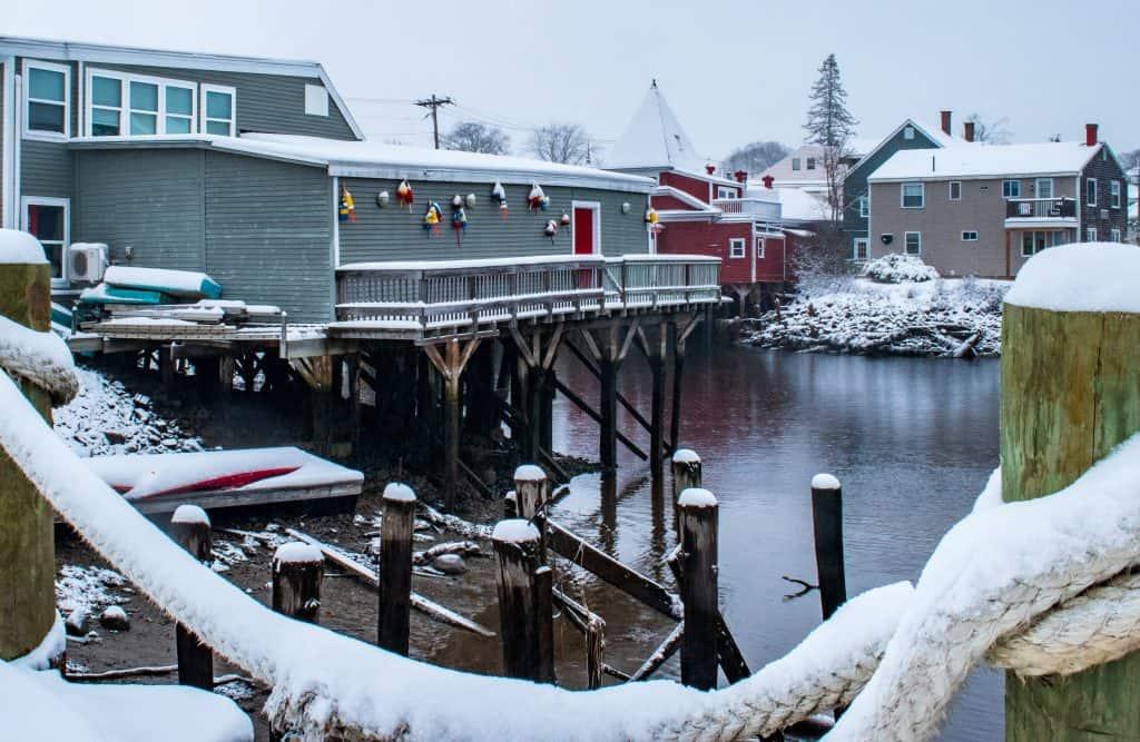 HomePier Kennebunkport, Maine in Winter