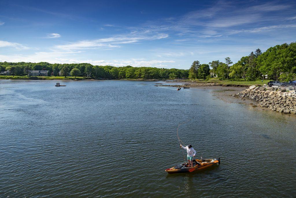 Fisherman Kayaking in Kennebunkport